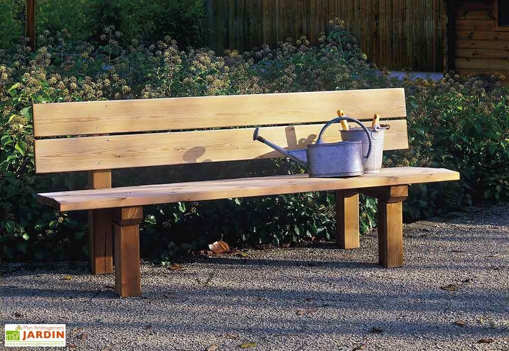 banc jardin bois