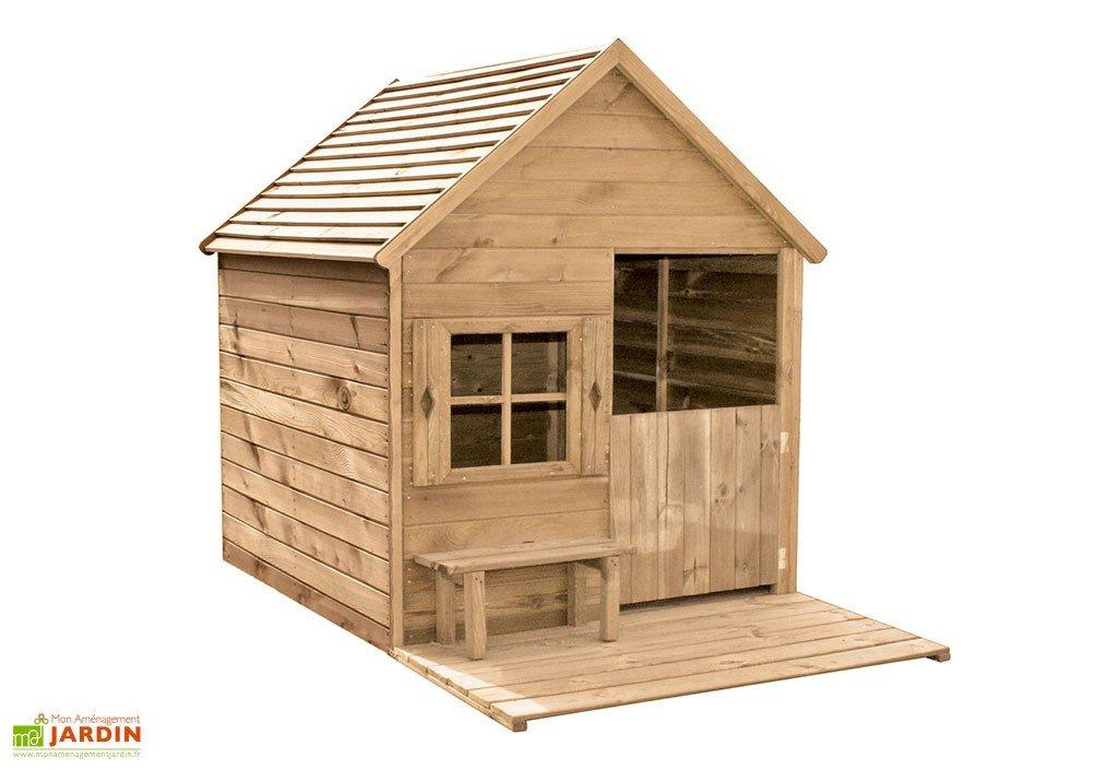 maison en bois pour enfant