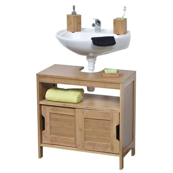 meuble sous lavabo bois