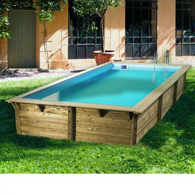 piscine bois rectangulaire