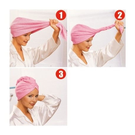 serviette cheveux microfibre