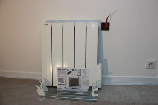 support radiateur electrique