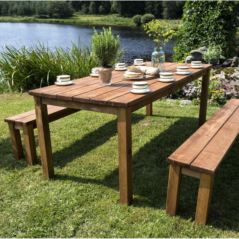 table de jardin en bois
