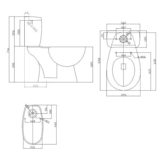 wc sortie verticale