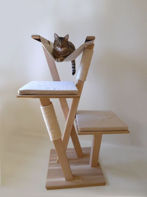 arbre a chat en bois
