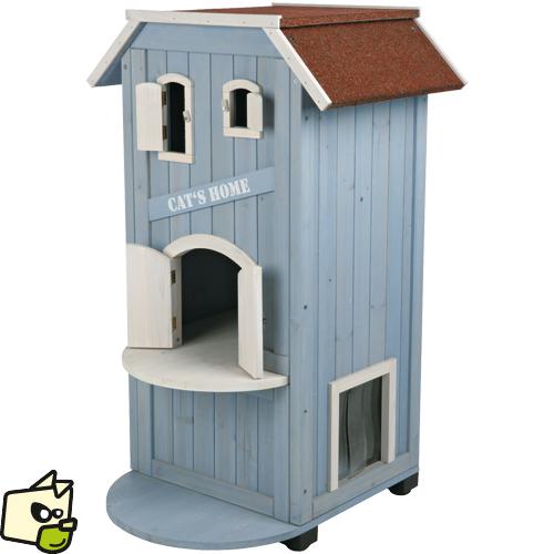 maison en bois pour chat