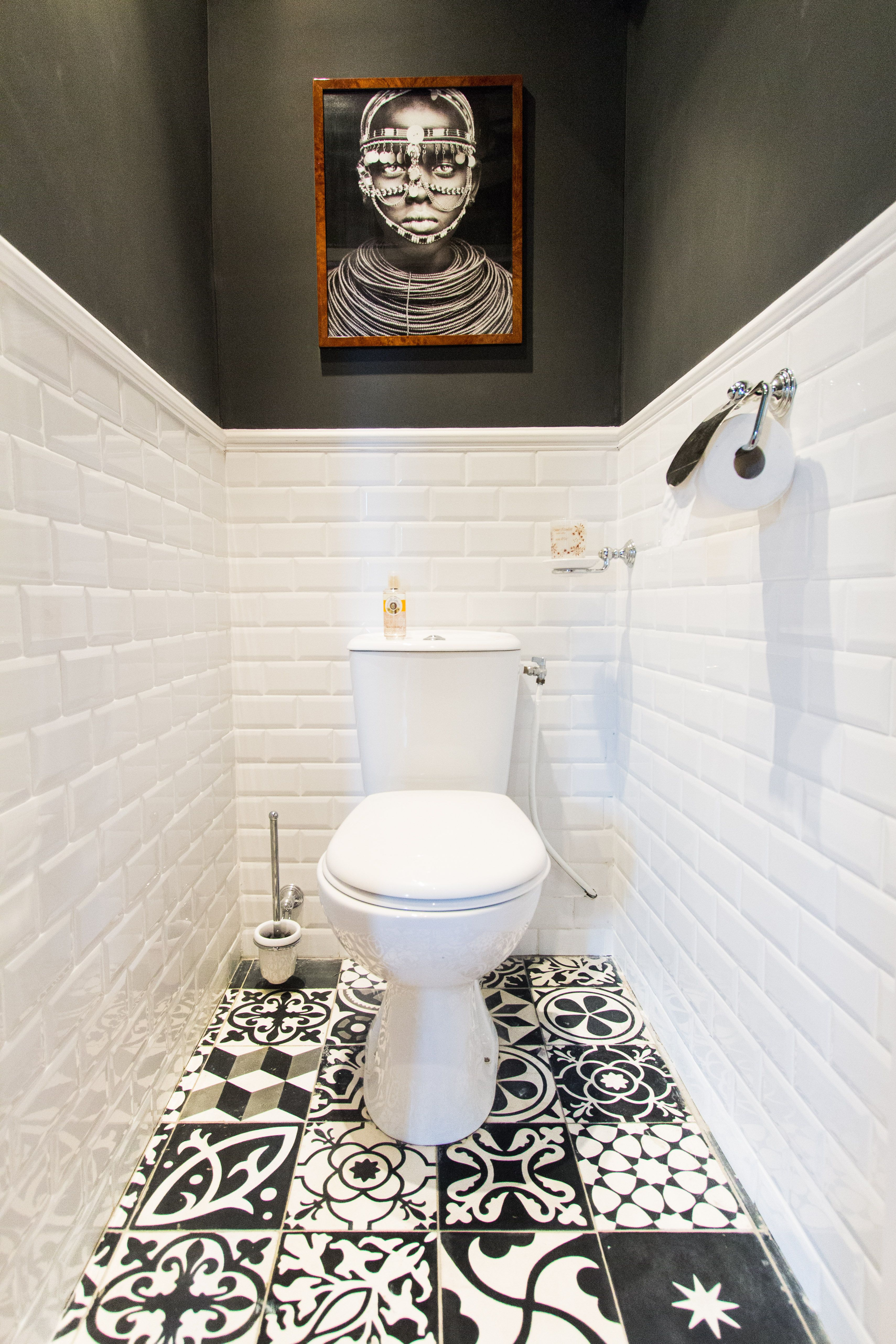 toilette noir et blanc