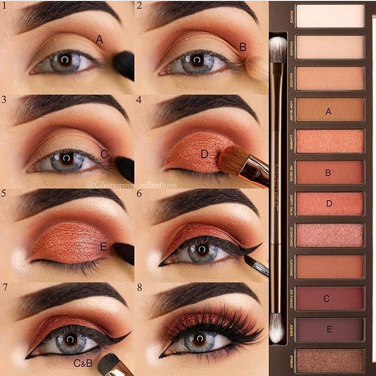 maquillage naked heat
